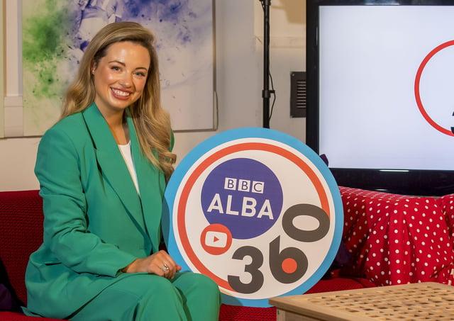 Iona Ballantyne is the presenter of 360, BBC Alba's new women's sports programme. (Photo: © Craig WatsonCraig Watson,craigwatsonpix@icloud.com 07479748060 www.craigwatson.co.uk)