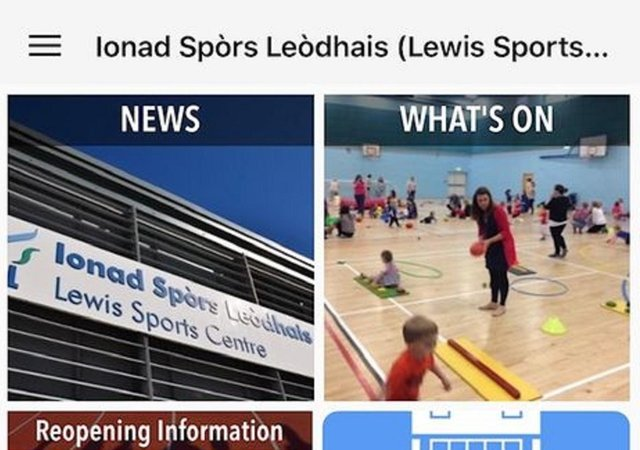 The new sports facilities app is proving to be very popular.