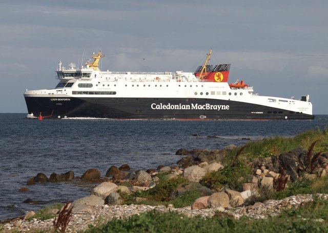 MV Loch Seaforth is in dry dock at present for its annual overhaul procedure.