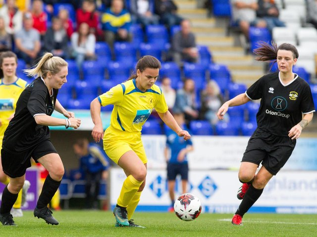 Mary MacLeod in action in last year's League Cup final (Pic by Donald Cameron)