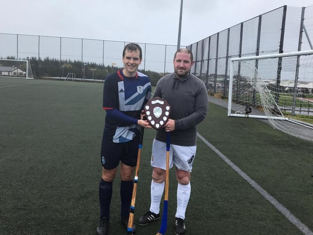 Donald Lamont and Stuart Tyson Campbell with shared trophy