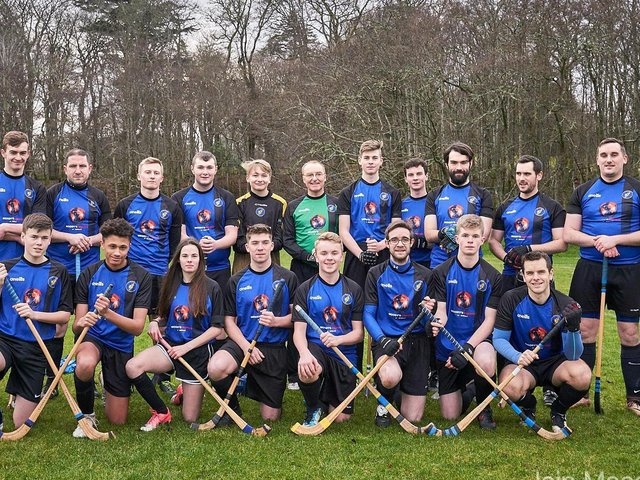 A picture of the Lewis Camanachd squad from 2019
