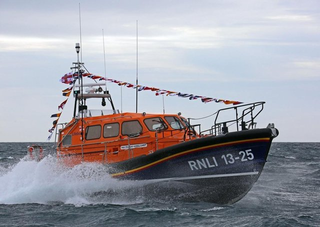 The RNLI's Shannon class lifeboat is based at Leverburgh, but perhaps not for much longer! Pic by: Nicholas Leitch.