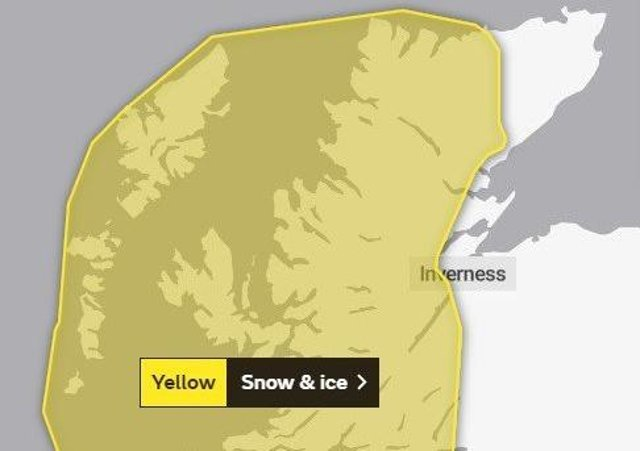 The Met Office have issued a weather warning for the Western Isles.