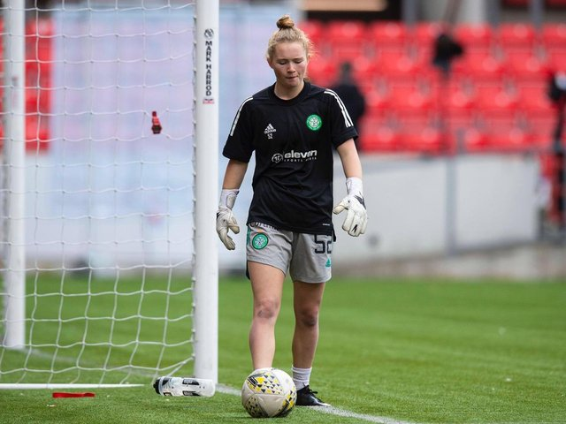 Lewis football ace Rachael Johnstone in Celtic colours