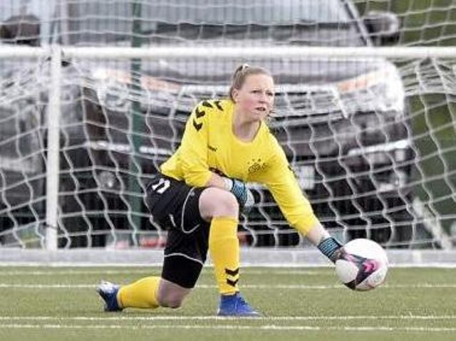 Chloe Nicholson in action for Rangers