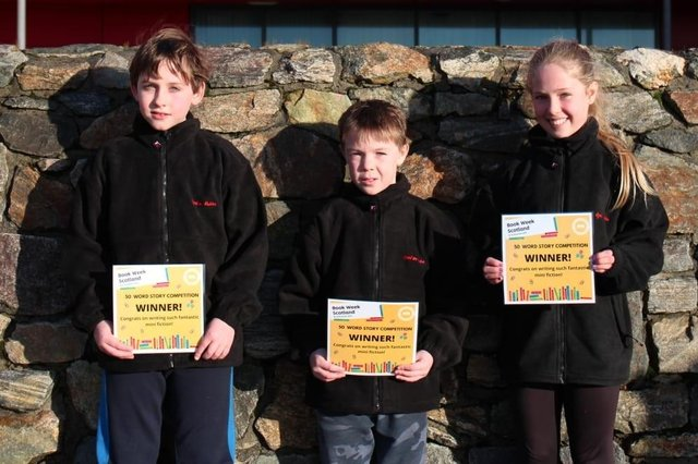 Some of the winners pictured with their certificates