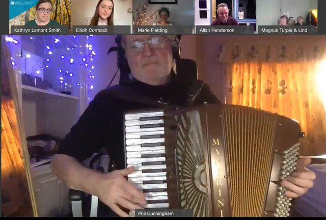 The online ceilidhs took off in a very unexpected way