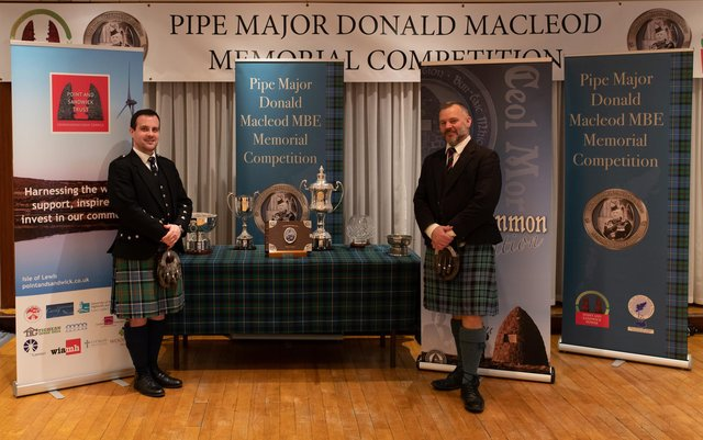 Finlay Johnston (left) and Stuart Liddell – overall 1st and 2nd respectively – at the 2019 Donald MacLeod competition.
