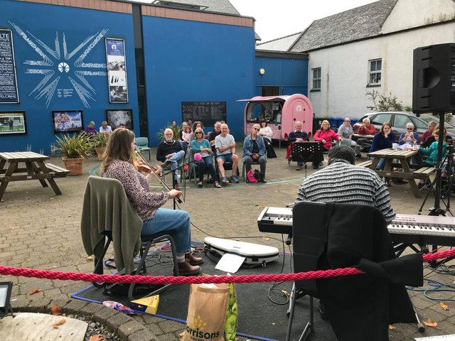 Ceilidhs on the forecourt at An Lanntair are making a welcome return