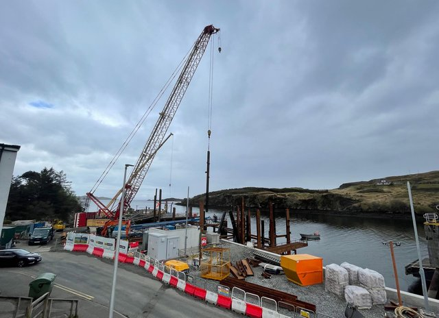 Work at the pier is expected to be completed autumn, although it will be some time yet before the new ferry arrives. Pic Ronan Wilson