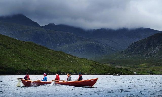 An Eathar Coastal Rowing Club on Loch Seaforth.