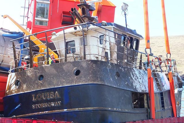 Photograph of Louisa  following recovery