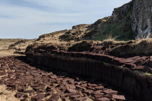 Peat cutting on Grimsay
