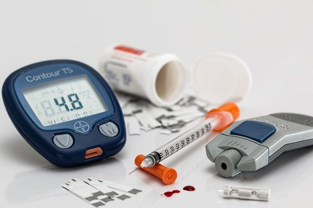 Some diabetics have to control blood sugar levels with insulin.