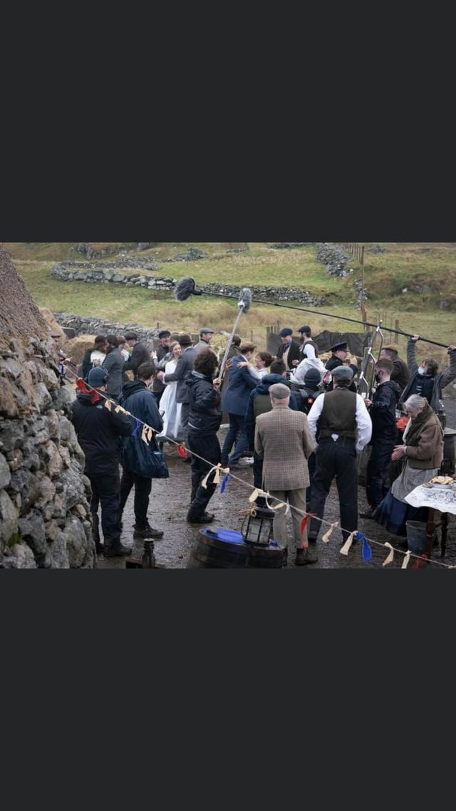 Filming took place at the Garenin blackhouse