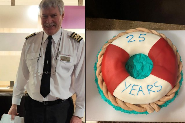 Captain Ronnie Nicolson has clocked up a remarkable 25 years on the job.