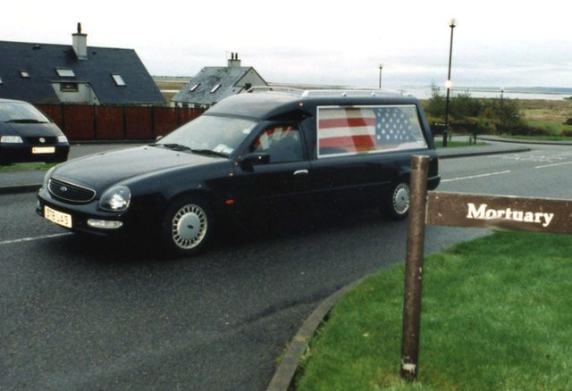 The body of Gavin Cushney, one of those who lost their lives in the Twin Towers on that fateful day, was flown back to Lewis and the funeral held in Ness. Pic: Lucas Collection.