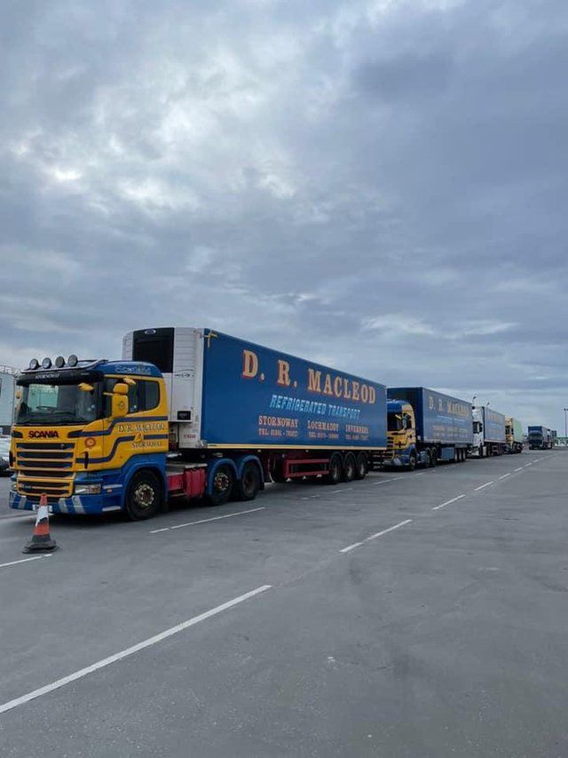 There is a significant backlog of cargo at the Stornoway terminal due to the issues