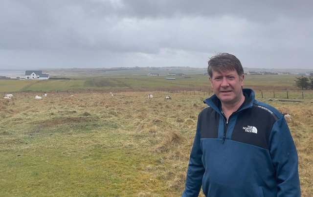 David MacLennan on his croft in Gress. He's fit and healthy now, but it's not that long ago it was a different story