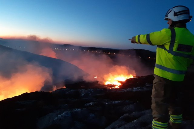 Firefighters have fought 24 fires in the space of three days.