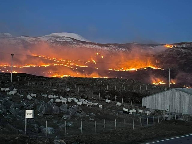 The fire service are currently dealing with a number of fires in the Western Isles. Image by Tom McCluskie.